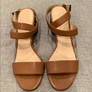 NEVER WORN Nine West Leather Ankle Strap Sandals